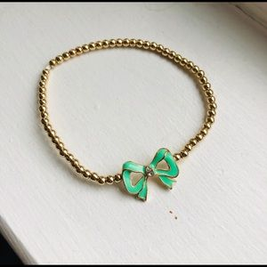 3/$10 Charming Charlie Simple Mint Bow Bracelet